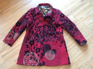 Desigual Mantel, rot-schwarz-gold