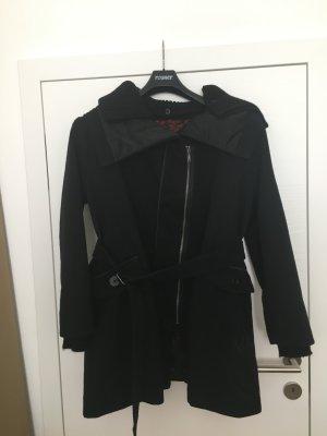 DESIGUAL Mantel schwarz, mit Gürtel, Gr. 46, bzw. 48 (ES), - wie NEU