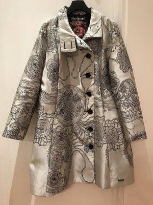 Desigual Manteau court noir-argenté