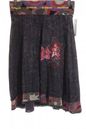 Desigual Midi-rok abstract patroon casual uitstraling