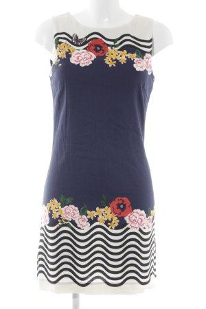 Desigual Robe courte bleu foncé-blanc motif floral style décontracté 0596b49d0755