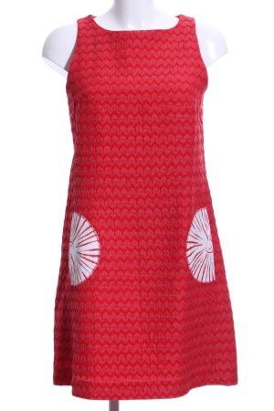 Desigual Minikleid rot-weiß florales Muster extravaganter Stil