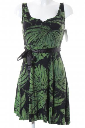 Desigual Minikleid schwarz-grün florales Muster Gypsy-Look