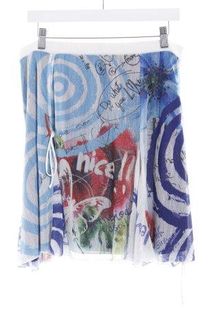 Desigual Minirock weiß-himmelblau Mustermix extravaganter Stil