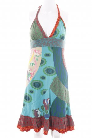 Desigual Halter Dress abstract pattern casual look