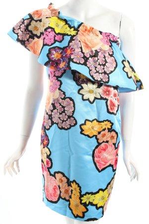 Desigual Vestido de un hombro estampado floral estilo extravagante
