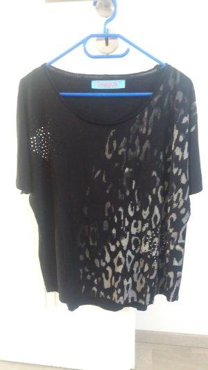 Desigual T-shirt noir-argenté