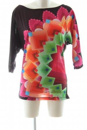Desigual Oversized Shirt abstraktes Muster Casual-Look