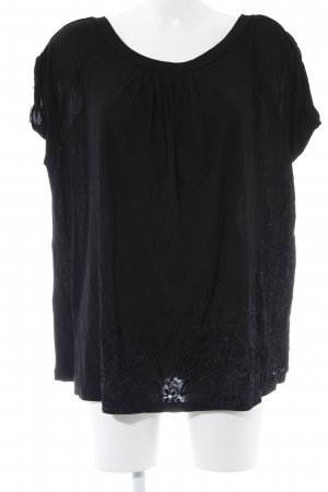 Desigual Oversized Shirt schwarz grafisches Muster Casual-Look