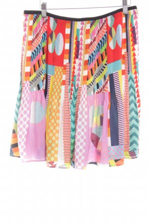 Desigual Pleated Skirt mixed pattern extravagant style