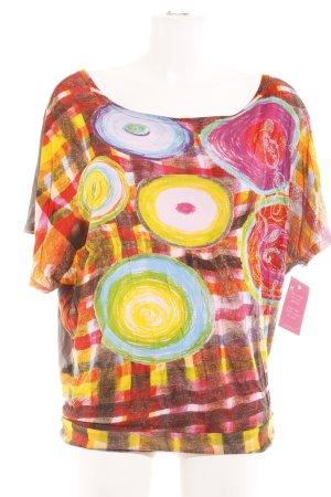 Desigual Print-Shirt abstrakter Druck Casual-Look