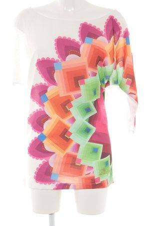 Desigual Print-Shirt abstraktes Muster Casual-Look