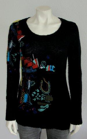 DESIGUAL Pullover Gr. L schwarz