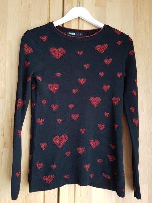 Desigual Kraagloze sweater veelkleurig