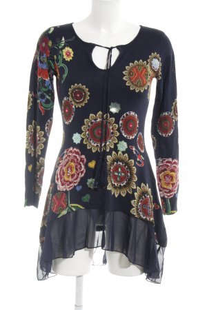 Desigual Sweater Dress flower pattern extravagant style