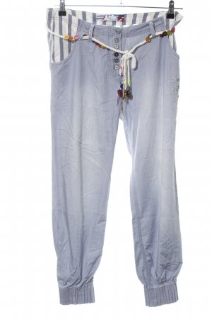 Desigual Bloomers blue-light grey striped pattern casual look