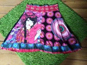 Desigual Circle Skirt black-pink