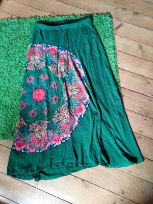 Desigual Falda larga verde hierba