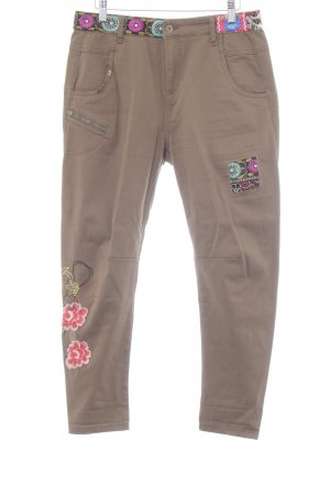 Desigual Drainpipe Trousers floral pattern casual look