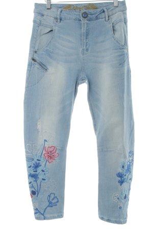 Desigual Tube Jeans flower pattern '90s style
