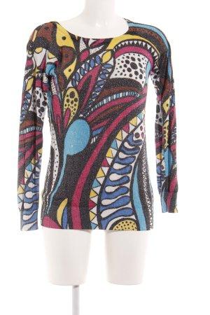 Desigual Kraagloze sweater abstracte print casual uitstraling