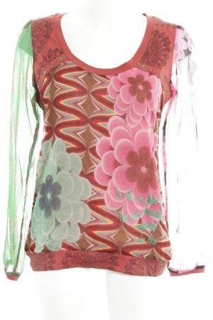 Desigual Jersey de cuello redondo estampado con diseño abstracto