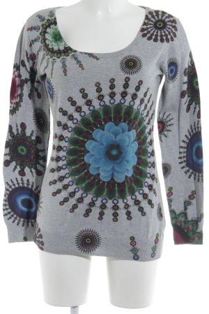 Desigual Kraagloze sweater bloemen patroon casual uitstraling