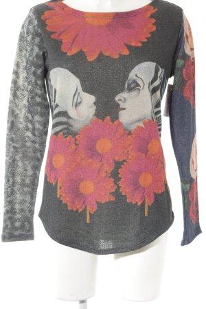 Desigual Rundhalspullover florales Muster extravaganter Stil