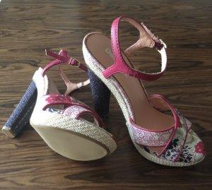 Desigual Sandalen met hoge hakken neonroos-wit