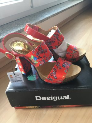 Desigual Platform High-Heeled Sandal red