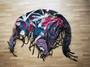 Desigual Fringed Scarf multicolored viscose