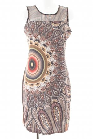 Desigual Tube Dress brown-cream graphic pattern casual look