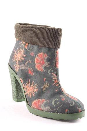 Desigual Schlüpf-Stiefeletten florales Muster Casual-Look