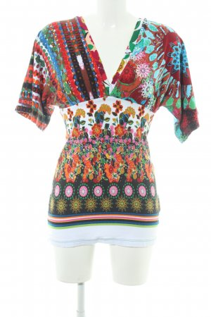 Desigual Slip-over Blouse abstract pattern extravagant style