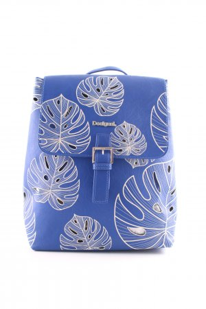 Desigual School Backpack blue-natural white flower pattern casual look