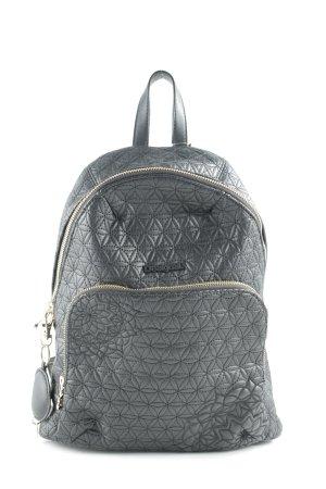 Desigual School Backpack black flower pattern casual look