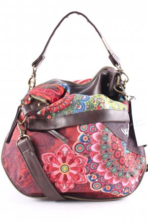 Desigual Shoulder Bag mixed pattern extravagant style