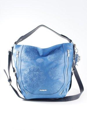 Desigual Sac porté épaule bleu acier-bleu foncé motif animal