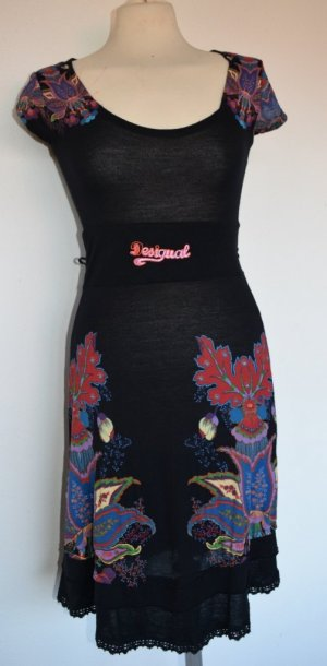 Desigual Midi Dress multicolored viscose
