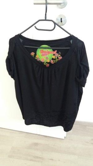 Desigual Shirt, Gr. S in schwarz