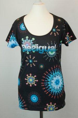 Desigual Shirt T-Shirt Gr. L bunt Hippie ethno