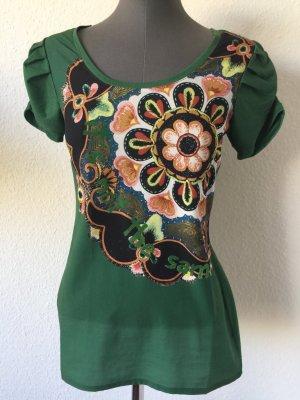 Desigual Shirt tshirt Tunika Print Motiv extravagant S 36
