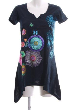 Desigual Vestido estilo camisa estampado con diseño abstracto look casual