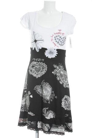 Desigual Shirtkleid Blumenmuster Logoprint