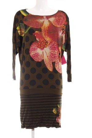 Desigual Shirtkleid florales Muster Patchwork-Optik