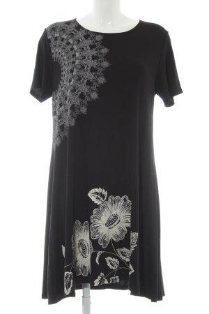 Desigual Shirt Dress black-oatmeal floral pattern casual look