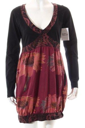 Desigual Shirtkleid schwarz-purpur Casual-Look