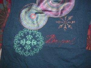 DESIGUAL  Shirtkleid/Tunika, petrol-bunt, neuw. Gr. 4Y (104-110)