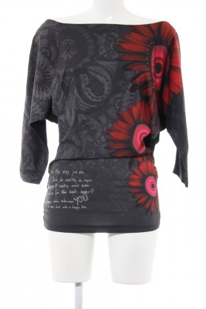 Desigual Shirt Tunic printed lettering casual look