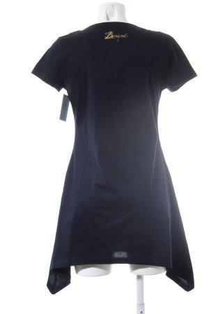 Desigual Shirttunika dunkelblau-blauviolett abstraktes Muster Casual-Look